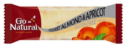 Go Natural Yoghurt Almond Apricot Gluten Free Snack Bar